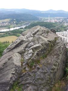 Pohled do Ústí nad Labem z jižního vrcholu