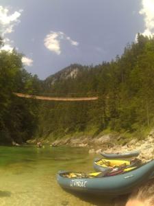 Vysutý most přes Salzu
