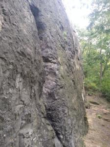 Masiv skalního útvaru Čima v Brné