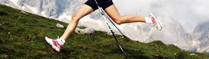 Práce nohou při běhu s holemi
