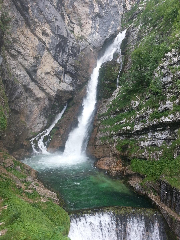 Vodopád Savica Bohinj Slovinsko