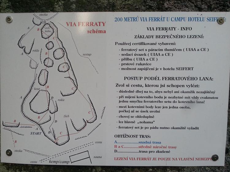 Průvodce Seifertova ferrata, Nové Hamry