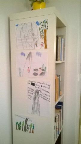 Obrázky z lezení od dětí