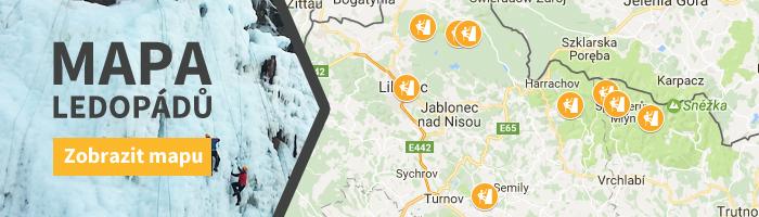 Banner mapa ledopádů