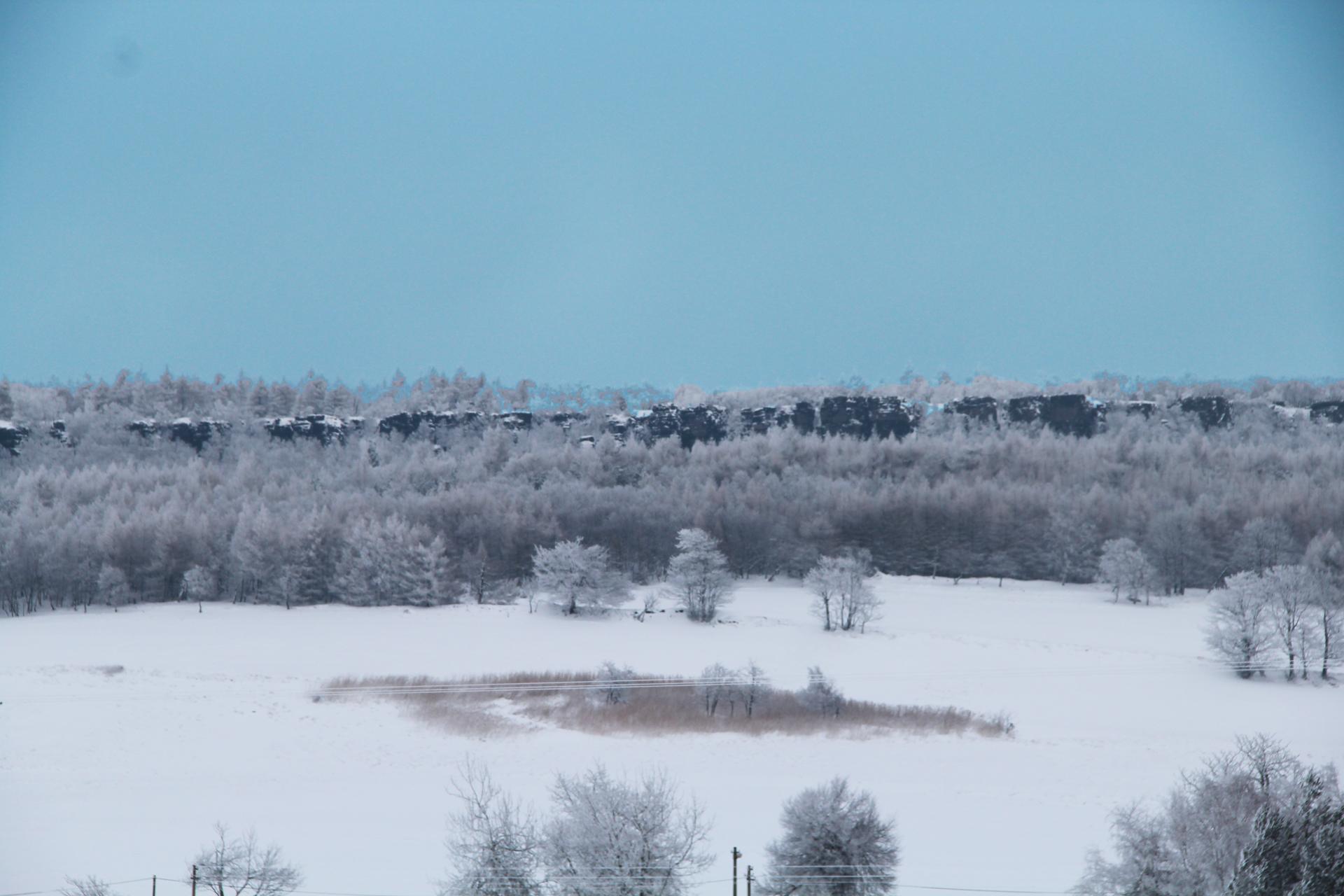 Děčínský Sněžník v zimě