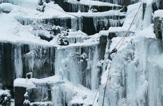 Ledová stěna Liberec