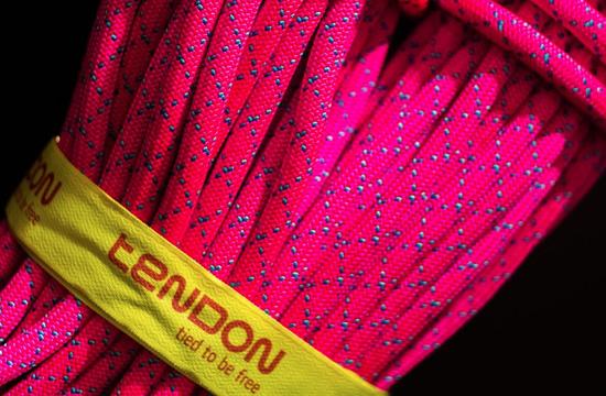 Dynamické lano Tendon MASTER 9,7 s technologií TeFIX svázané