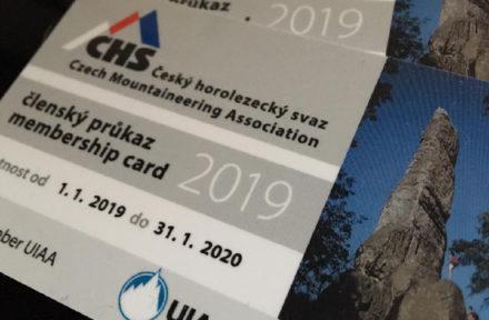 Horosvaz kartička členství 2019
