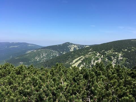 Výhled z místa Krakonoš